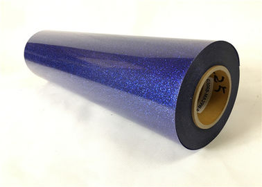 Sublimation PVC / PU Royal Blue Glitter Vinyl Easy Weed With Strong Adhesiveness