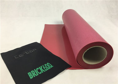 Red Color 3D XPD Heat Transfer Vinyl Silicon Rubber Matt Surface 0.6mm Thickness