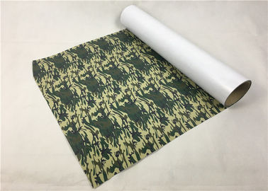 Army Camouflage PU Vinyl Transfer Film Soft Hand Feeling Good Color Saturation