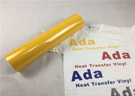 Eco - Friendly Yellow Heat Transfer Vinyl Reliable Good Washing Resistance