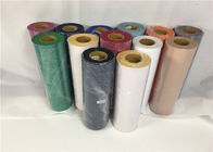 Red / Green  Heavy Flocking Heat Press Vinyl Rolls For Cutting Plotter Sk850T